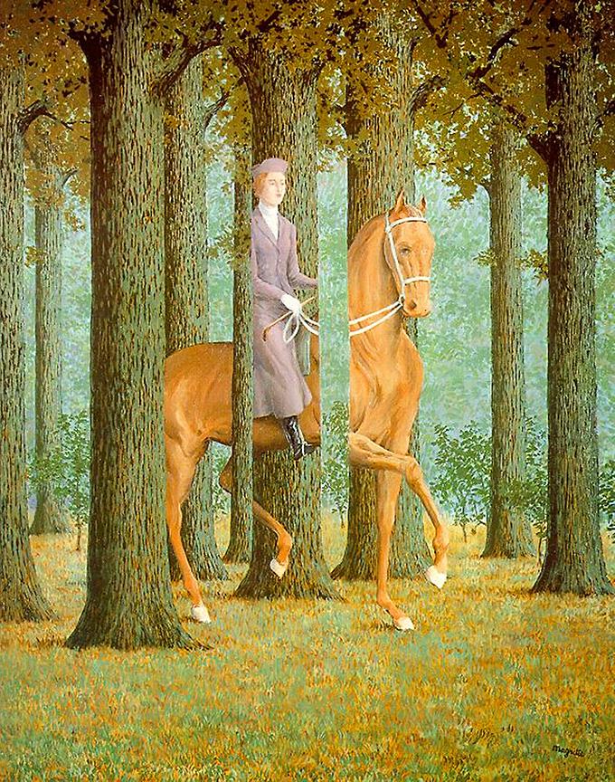 La Carte Blanche - Rene Magritte 1965
